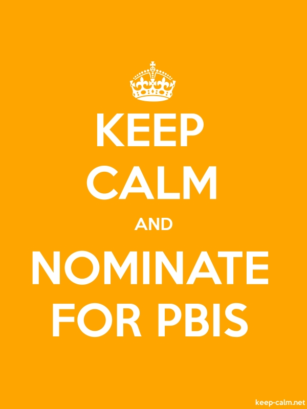 KEEP CALM AND NOMINATE FOR PBIS - white/orange - Default (600x800)