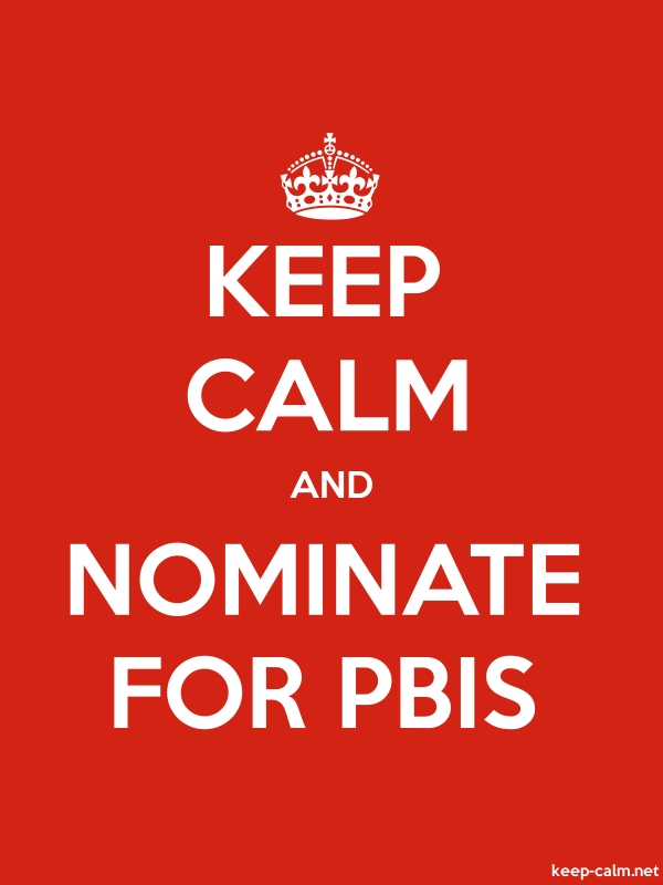 KEEP CALM AND NOMINATE FOR PBIS - white/red - Default (600x800)