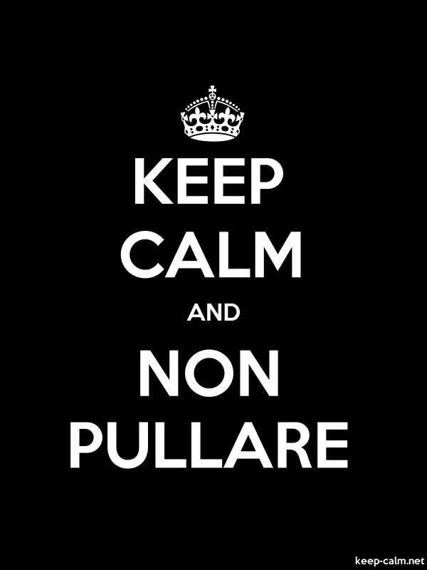 KEEP CALM AND NON PULLARE - white/black - Default (600x800)