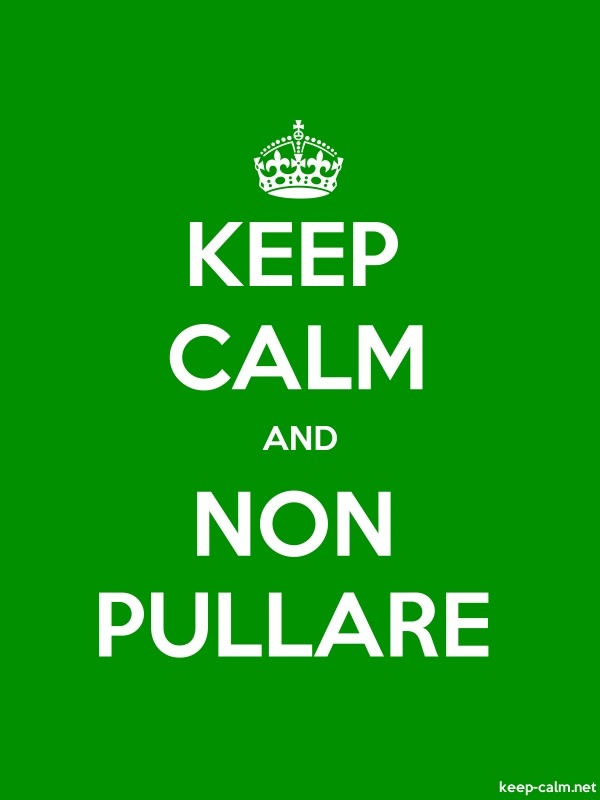 KEEP CALM AND NON PULLARE - white/green - Default (600x800)