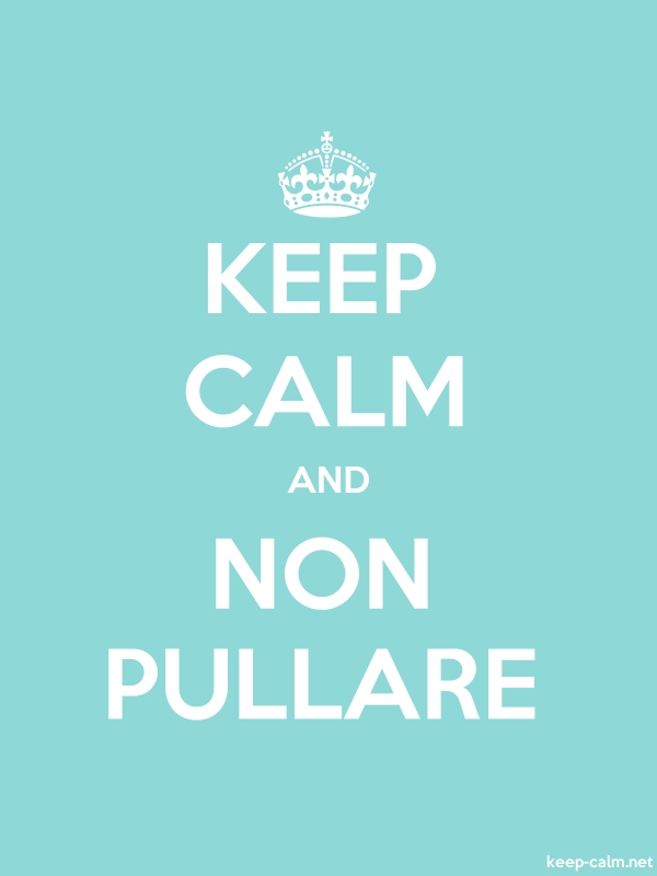 KEEP CALM AND NON PULLARE - white/lightblue - Default (600x800)