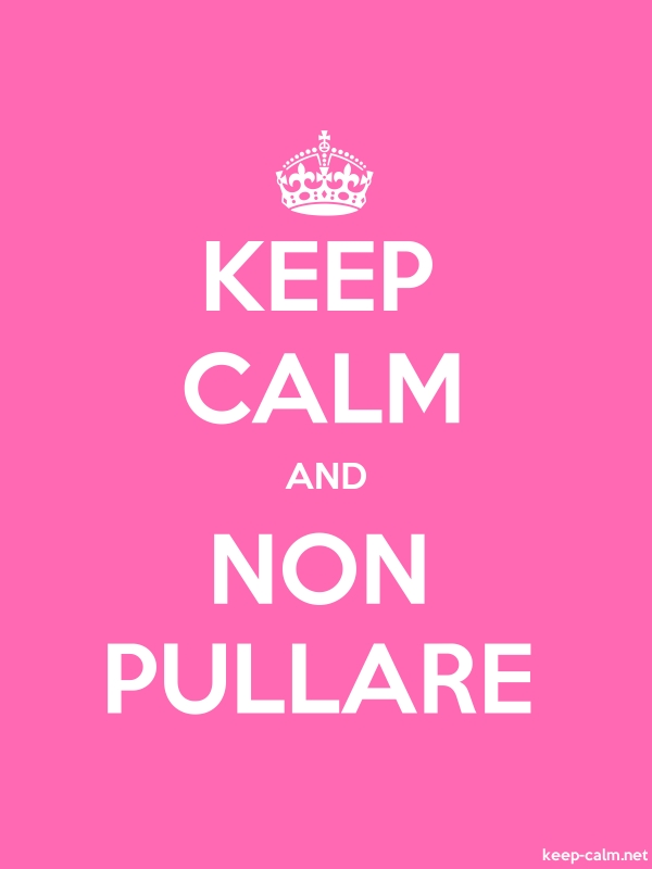 KEEP CALM AND NON PULLARE - white/pink - Default (600x800)