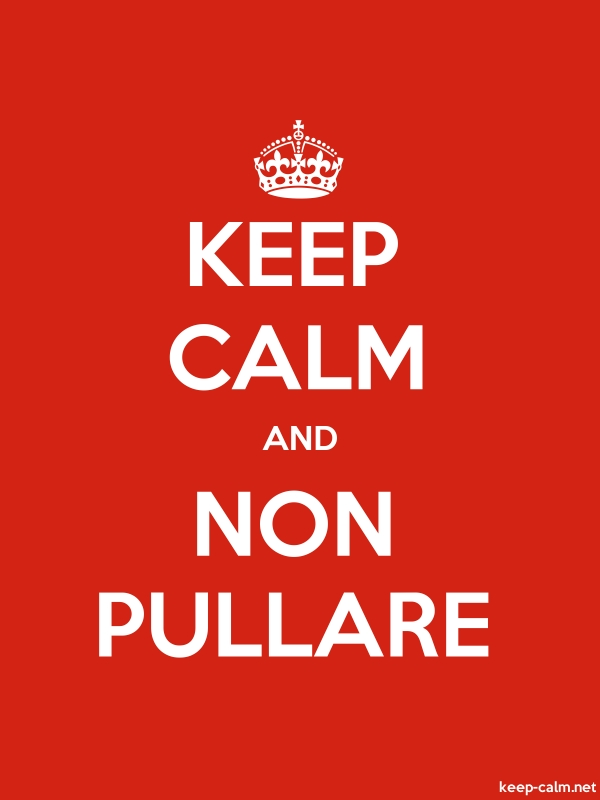 KEEP CALM AND NON PULLARE - white/red - Default (600x800)