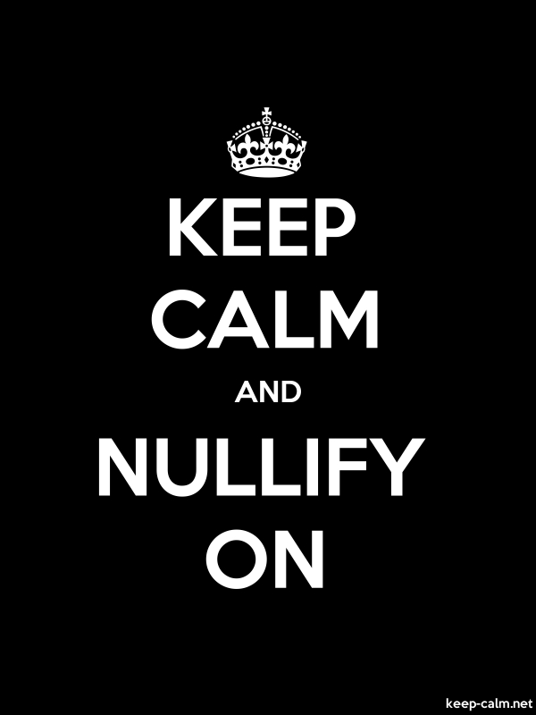 KEEP CALM AND NULLIFY ON - white/black - Default (600x800)