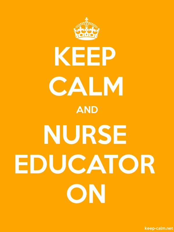 KEEP CALM AND NURSE EDUCATOR ON - white/orange - Default (600x800)