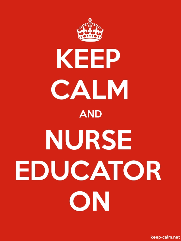 KEEP CALM AND NURSE EDUCATOR ON - white/red - Default (600x800)
