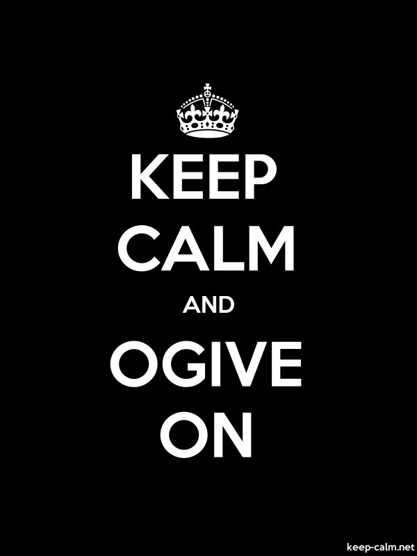 KEEP CALM AND OGIVE ON - white/black - Default (600x800)