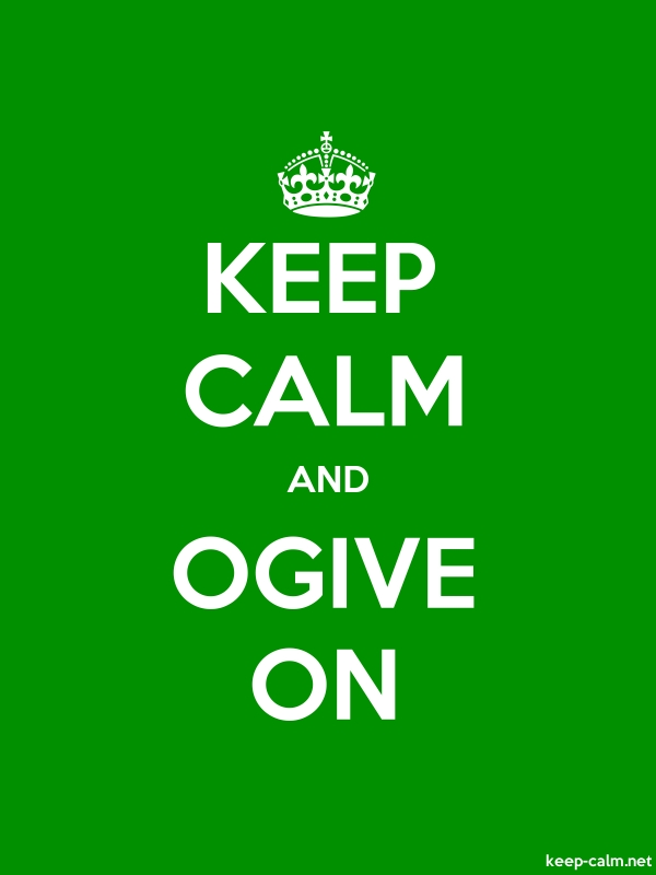 KEEP CALM AND OGIVE ON - white/green - Default (600x800)