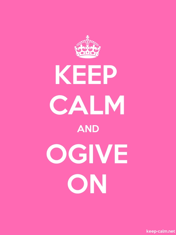 KEEP CALM AND OGIVE ON - white/pink - Default (600x800)
