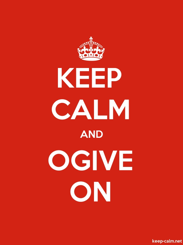 KEEP CALM AND OGIVE ON - white/red - Default (600x800)