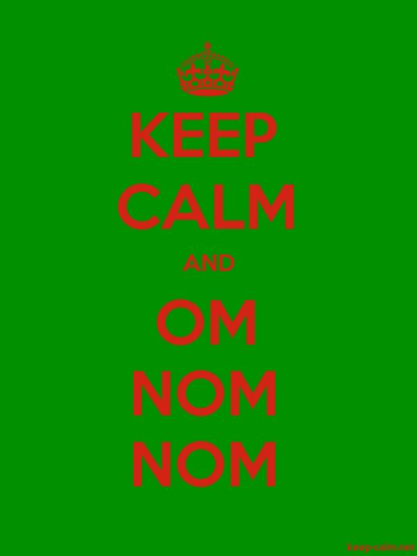 KEEP CALM AND OM NOM NOM - red/green - Default (600x800)
