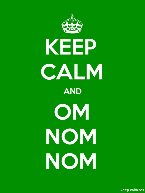 KEEP CALM AND OM NOM NOM - white/green - Default (600x800)