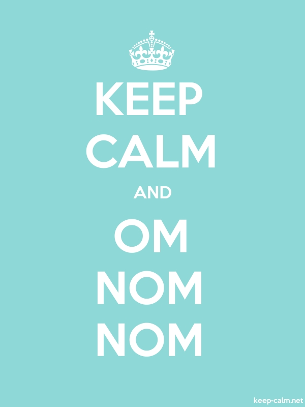 KEEP CALM AND OM NOM NOM - white/lightblue - Default (600x800)