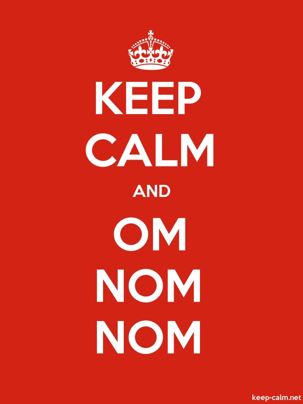 KEEP CALM AND OM NOM NOM - white/red - Default (600x800)