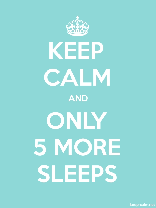 KEEP CALM AND ONLY 5 MORE SLEEPS - white/lightblue - Default (600x800)