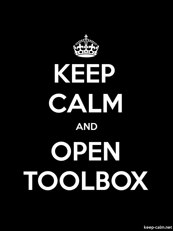 KEEP CALM AND OPEN TOOLBOX - white/black - Default (600x800)