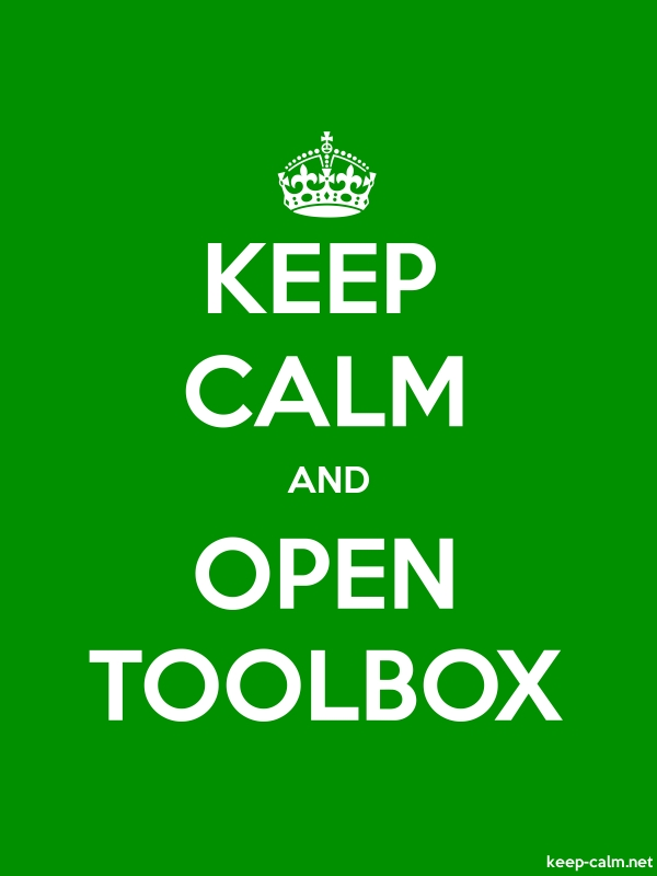 KEEP CALM AND OPEN TOOLBOX - white/green - Default (600x800)