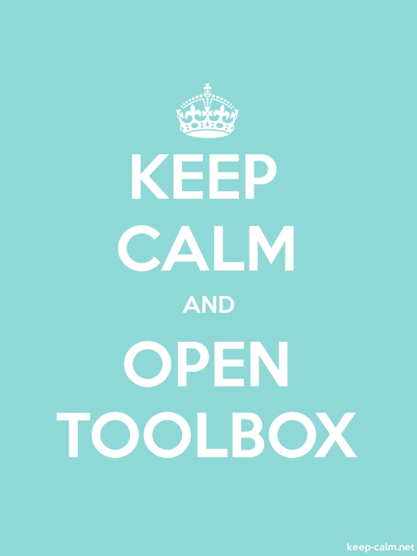 KEEP CALM AND OPEN TOOLBOX - white/lightblue - Default (600x800)