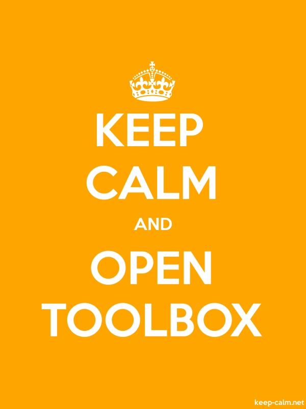 KEEP CALM AND OPEN TOOLBOX - white/orange - Default (600x800)