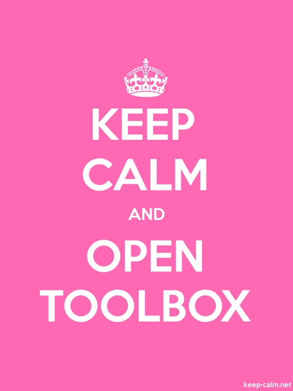 KEEP CALM AND OPEN TOOLBOX - white/pink - Default (600x800)