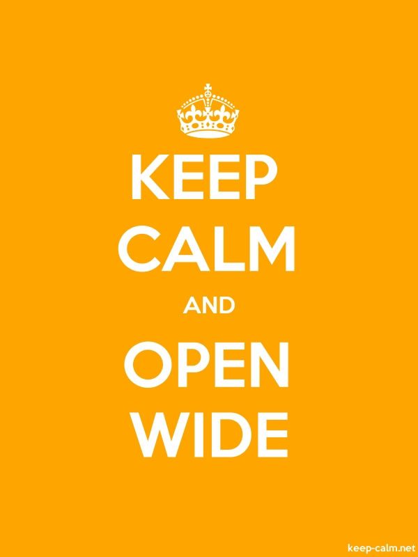 KEEP CALM AND OPEN WIDE - white/orange - Default (600x800)