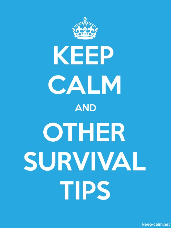 KEEP CALM AND OTHER SURVIVAL TIPS - white/blue - Default (600x800)
