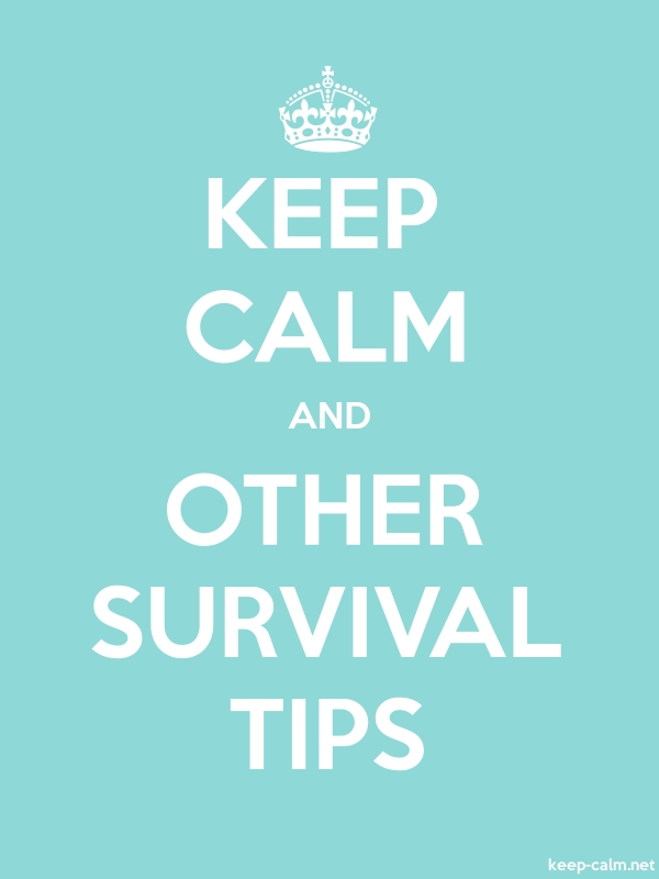 KEEP CALM AND OTHER SURVIVAL TIPS - white/lightblue - Default (600x800)