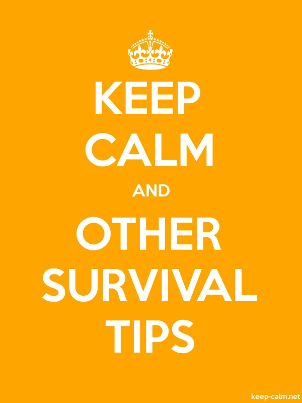 KEEP CALM AND OTHER SURVIVAL TIPS - white/orange - Default (600x800)