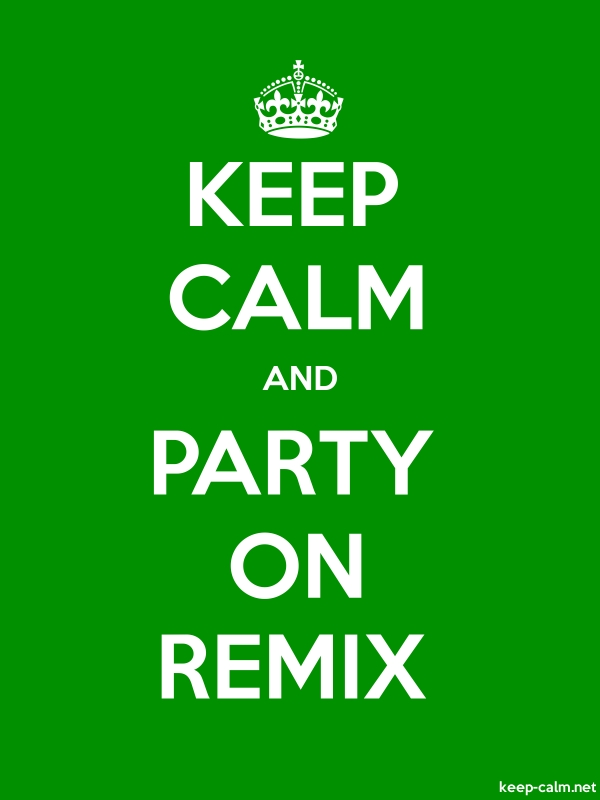 KEEP CALM AND PARTY ON REMIX - white/green - Default (600x800)