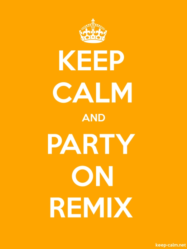 KEEP CALM AND PARTY ON REMIX - white/orange - Default (600x800)
