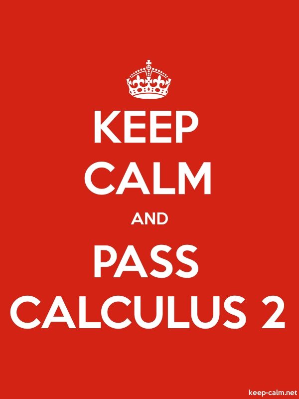 KEEP CALM AND PASS CALCULUS 2 - white/red - Default (600x800)