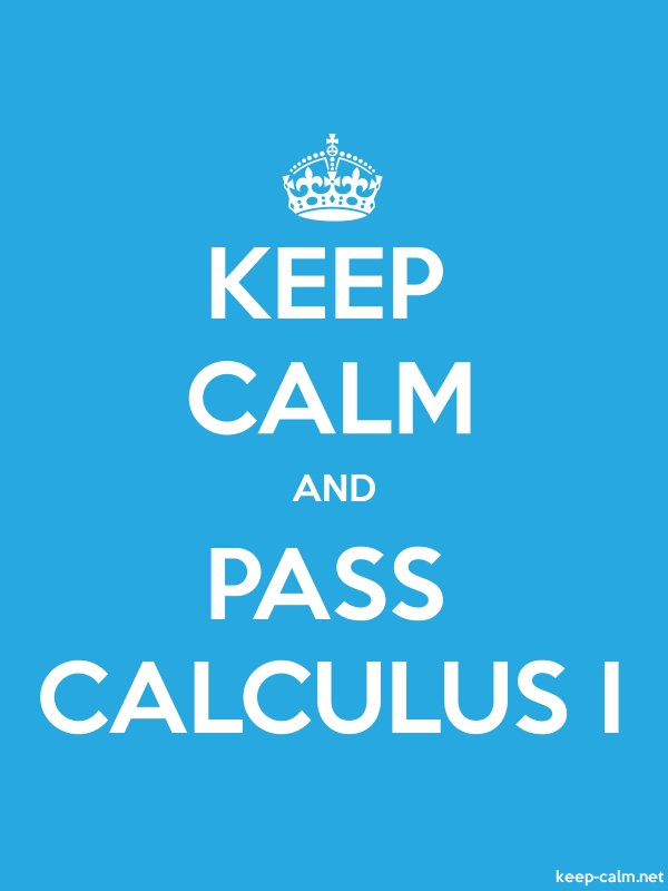 KEEP CALM AND PASS CALCULUS I - white/blue - Default (600x800)