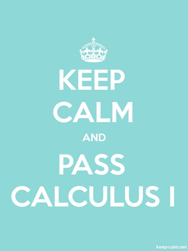 KEEP CALM AND PASS CALCULUS I - white/lightblue - Default (600x800)