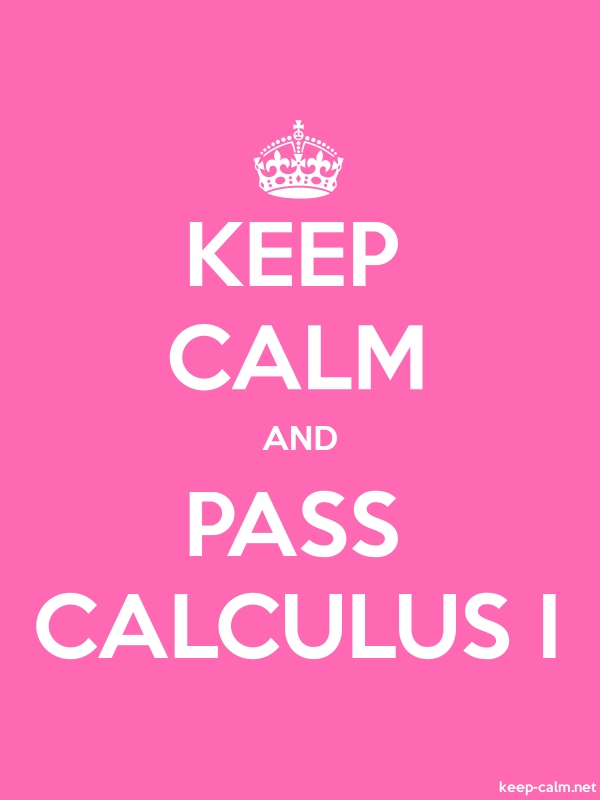 KEEP CALM AND PASS CALCULUS I - white/pink - Default (600x800)
