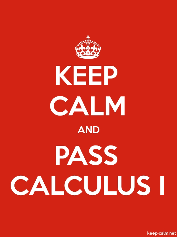 KEEP CALM AND PASS CALCULUS I - white/red - Default (600x800)