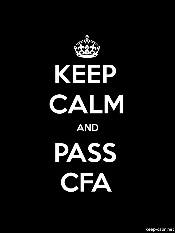 KEEP CALM AND PASS CFA - white/black - Default (600x800)