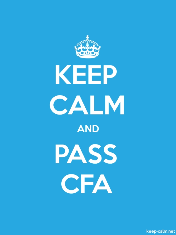 KEEP CALM AND PASS CFA - white/blue - Default (600x800)