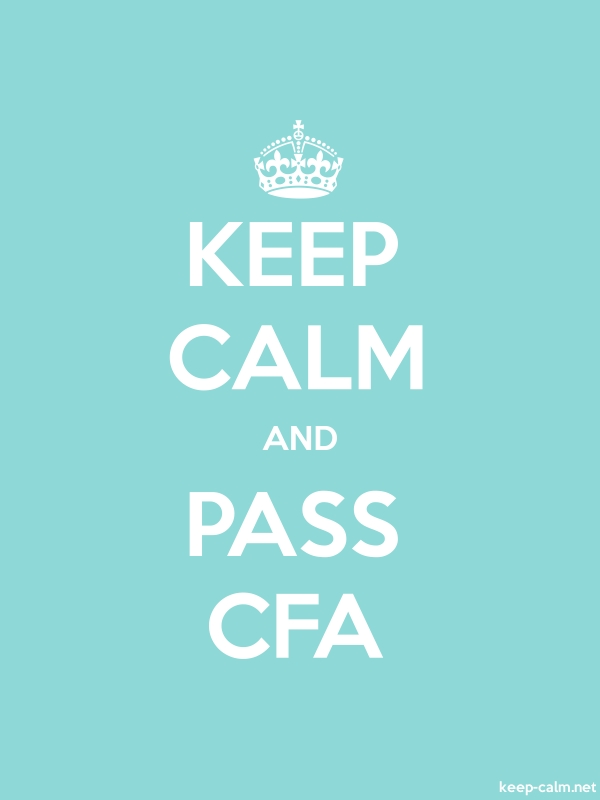 KEEP CALM AND PASS CFA - white/lightblue - Default (600x800)