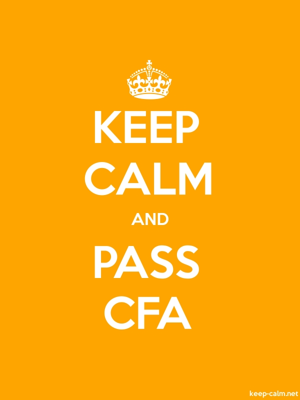 KEEP CALM AND PASS CFA - white/orange - Default (600x800)