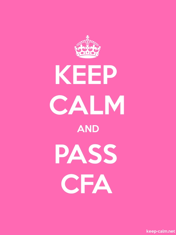 KEEP CALM AND PASS CFA - white/pink - Default (600x800)
