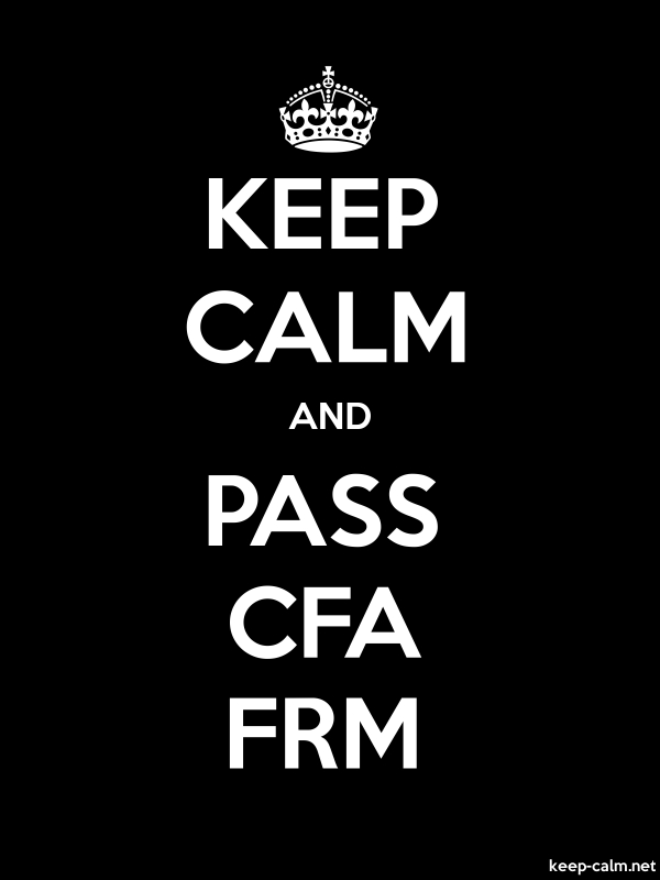 KEEP CALM AND PASS CFA FRM - white/black - Default (600x800)