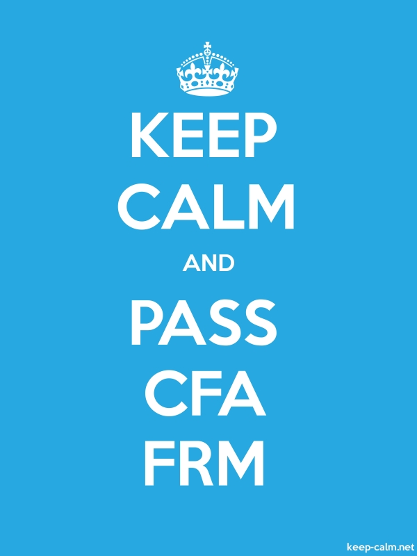 KEEP CALM AND PASS CFA FRM - white/blue - Default (600x800)