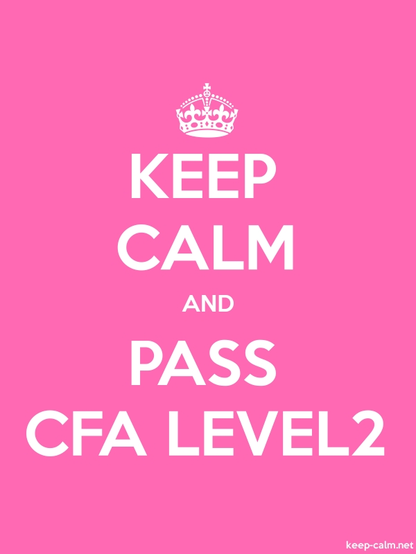 KEEP CALM AND PASS CFA LEVEL2 - white/pink - Default (600x800)