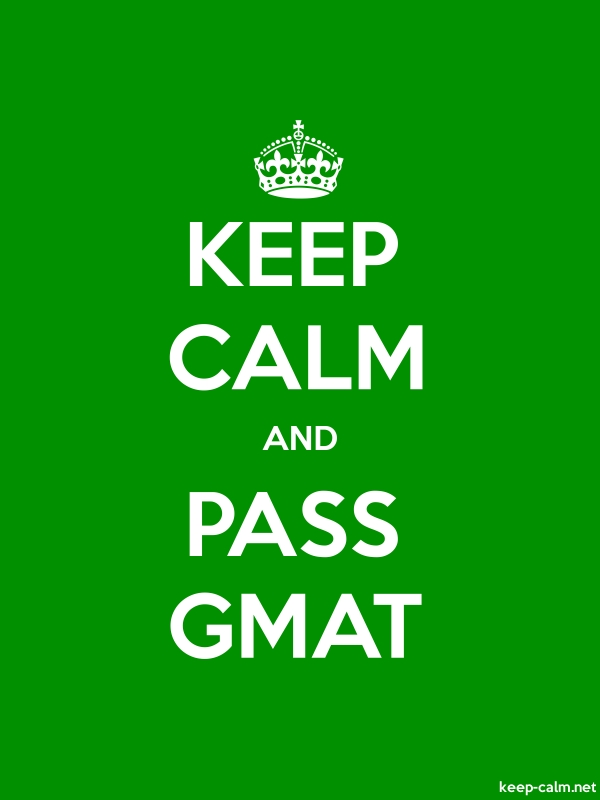 KEEP CALM AND PASS GMAT - white/green - Default (600x800)