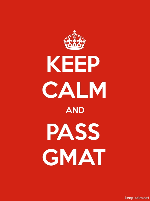 KEEP CALM AND PASS GMAT - white/red - Default (600x800)
