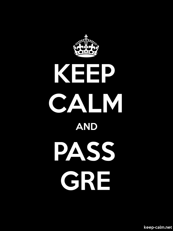 KEEP CALM AND PASS GRE - white/black - Default (600x800)