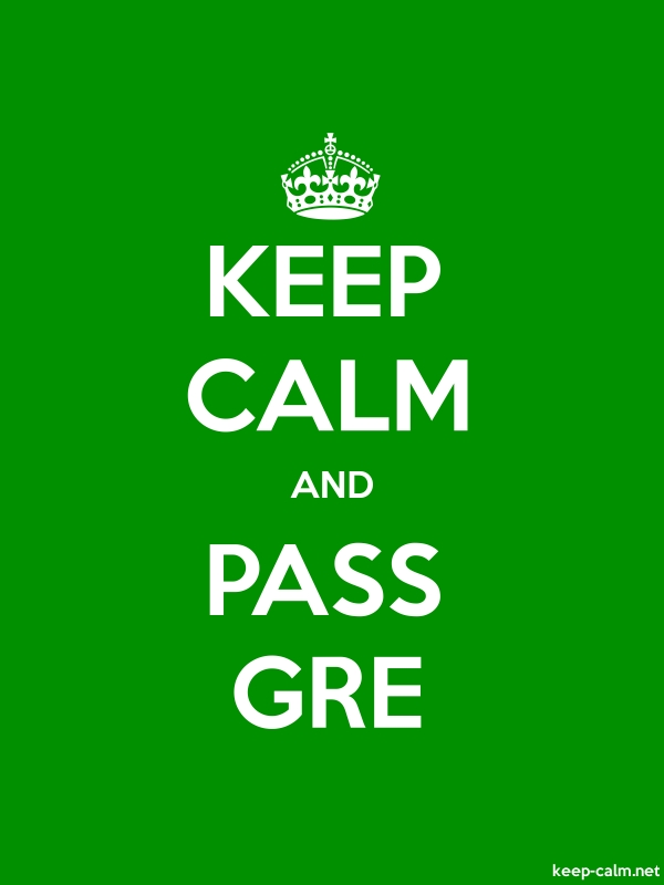 KEEP CALM AND PASS GRE - white/green - Default (600x800)