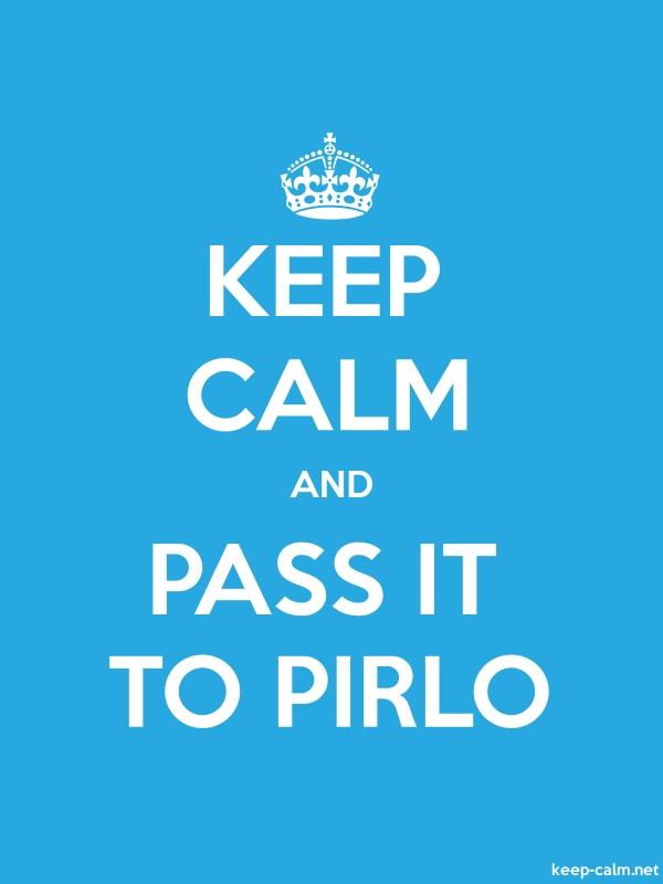 KEEP CALM AND PASS IT TO PIRLO - white/blue - Default (600x800)