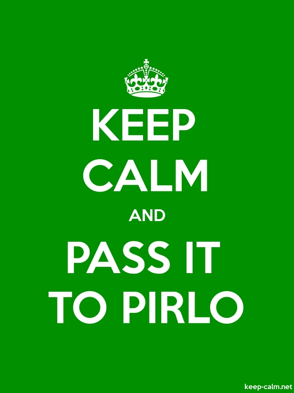 KEEP CALM AND PASS IT TO PIRLO - white/green - Default (600x800)