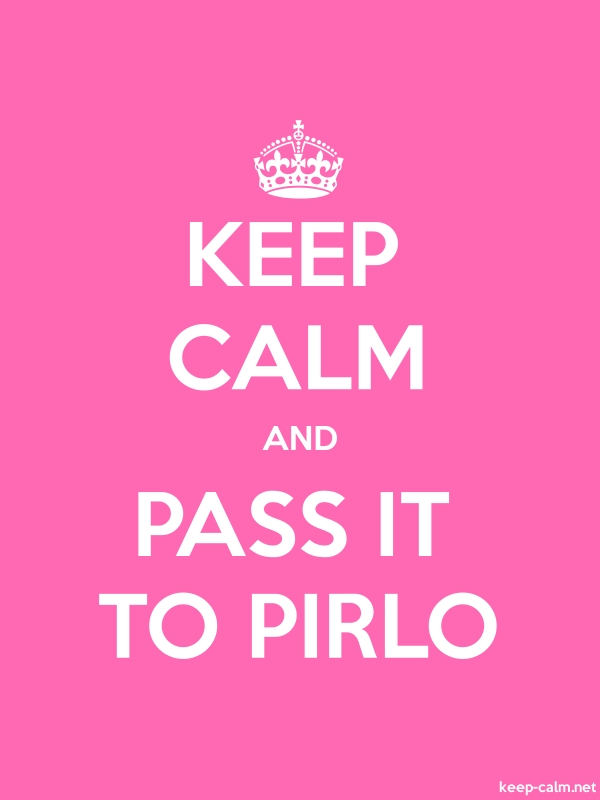 KEEP CALM AND PASS IT TO PIRLO - white/pink - Default (600x800)